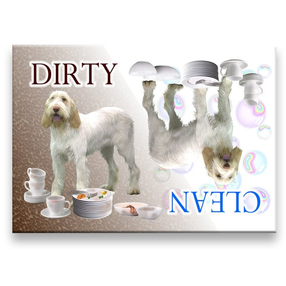 Italian Spinone Clean Dirty Dishwasher Magnet No 1
