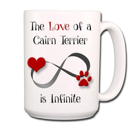 Cairn Terrier Infinite Love Large 15 oz Coffee Mug