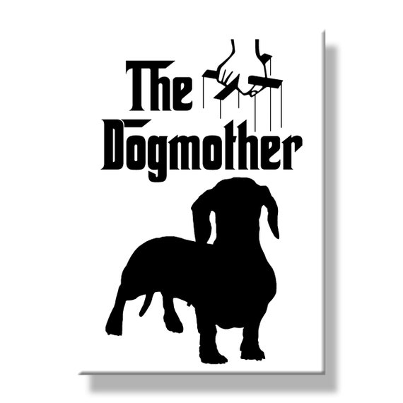 Dachshund The Dogmother Fridge Magnet