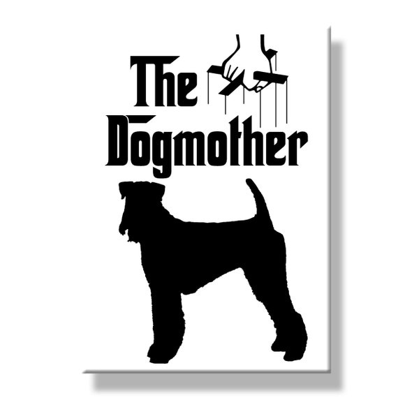 Airedale Terrier The Dogmother Fridge Magnet