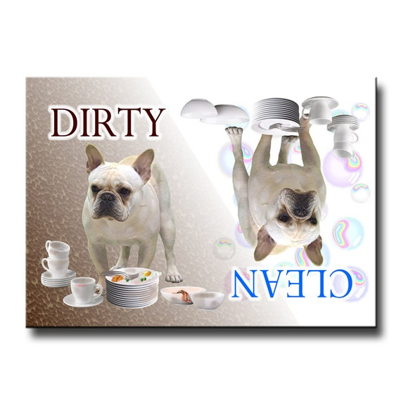 French Bulldog Clean Dirty Dishwasher Magnet No 1