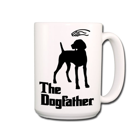 Weimaraner Dogfather Large 15 oz Coffee Mug