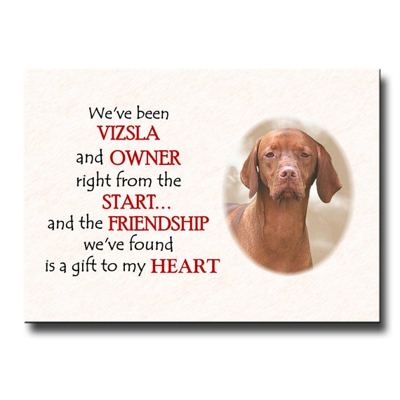 Hungarian Vizsla Friendship Fridge Magnet