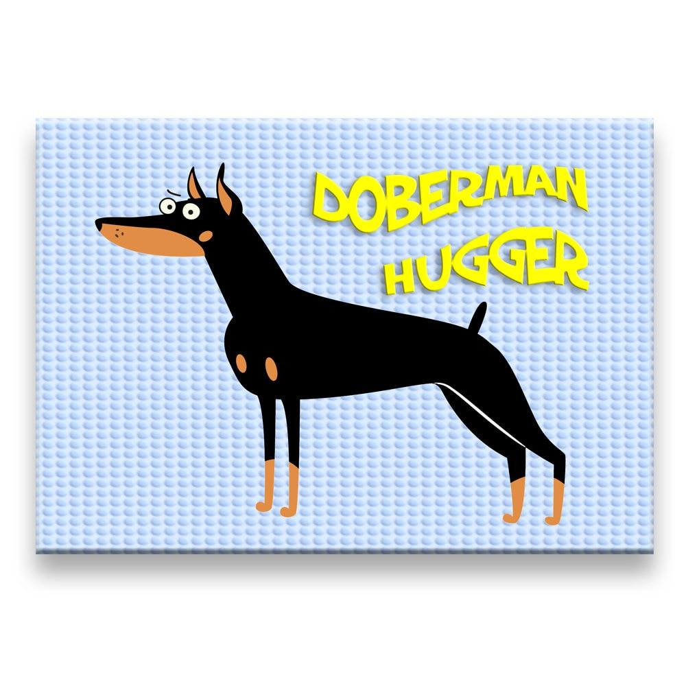 DOBERMAN PINSCHER Hugger FRIDGE MAGNET No 1