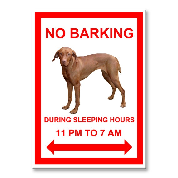 Hungarian Vizsla No Barking Fridge Magnet