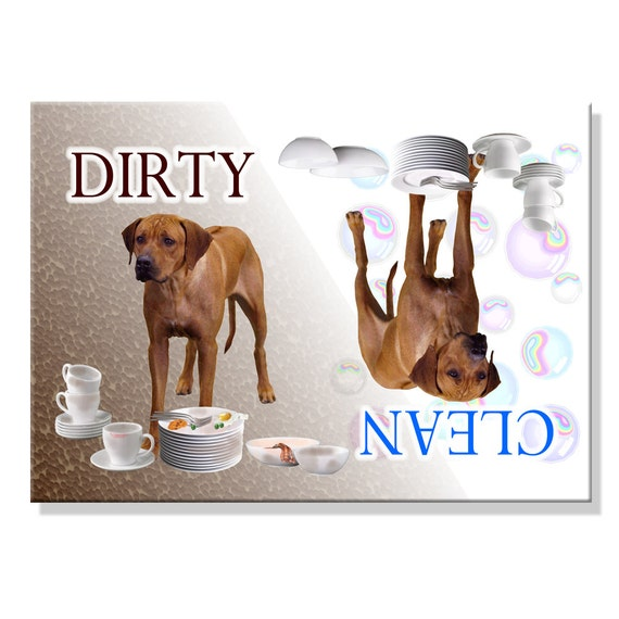 Rhodesian Ridgeback Clean Dirty Dishwasher Magnet