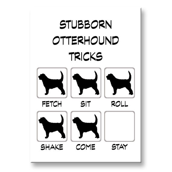 Otterhound Stubborn Tricks Fridge Magnet