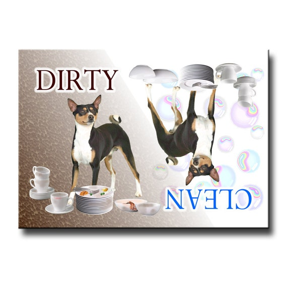 Basenji Clean Dirty Dishwasher Magnet No 2