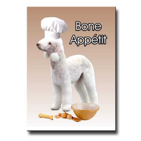 Bedlington Terrier Bone Appetit Fridge Magnet