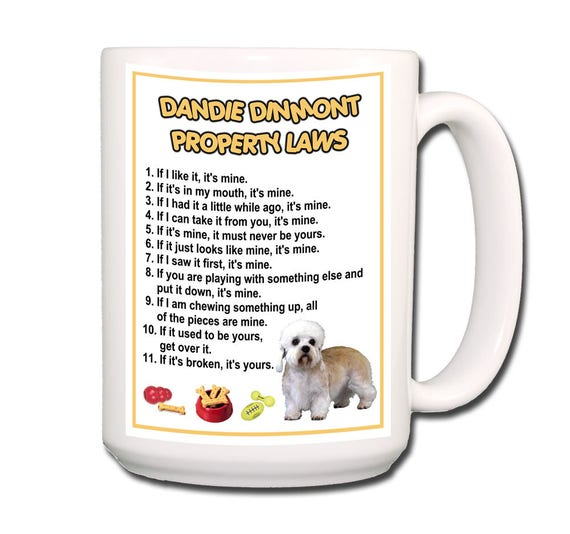 Dandie Dinmont Property Laws Large 15 oz Coffee Mug