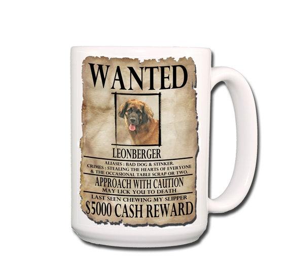 Leonberger Wanted Poster Extra Large 15 oz Coffee Mug