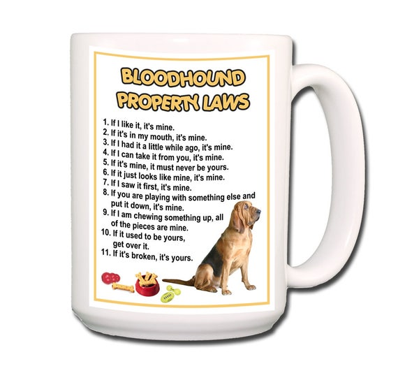 Bloodhound Property Laws Extra Large 15 oz Coffee Mug