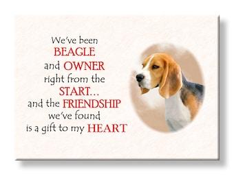 Beagle Friendship Fridge Magnet