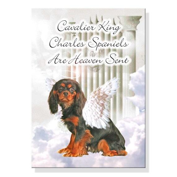 Cavalier King Charles Spaniel Heaven Sent Fridge Magnet No 3