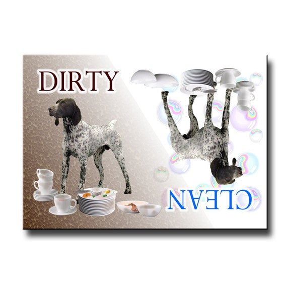 German Short Haired Pointer Clean Dirty Dishwasher Magnet