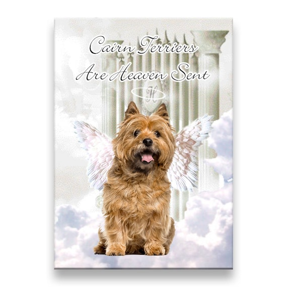 Cairn Terrier Heaven Sent Fridge Magnet No 2 Pet Loss