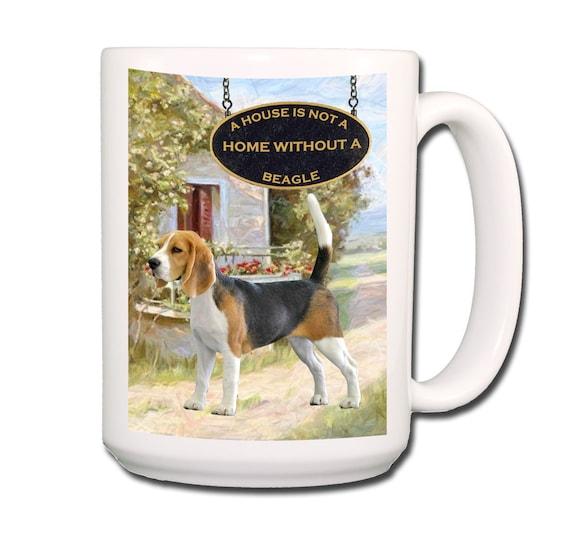 Beagle a House is Not a Home Large 15 oz Coffee Mug