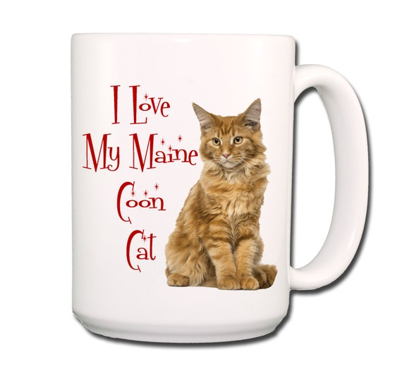 Maine Coon Cat I Love My Cat Large 15 oz Coffee Mug No 2