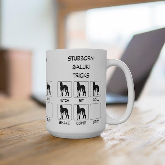 Saluki Stubborn Tricks Extra Large 15oz Coffee Mug Dog