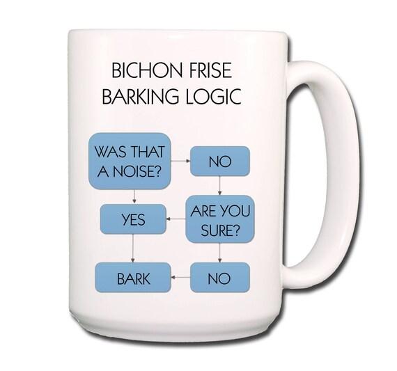Bichon Frise Barking Logic Extra Large 15 oz Coffee Mug