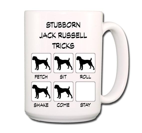 Jack Russell Terrier Stubborn Tricks 15 oz Large Coffee Mug