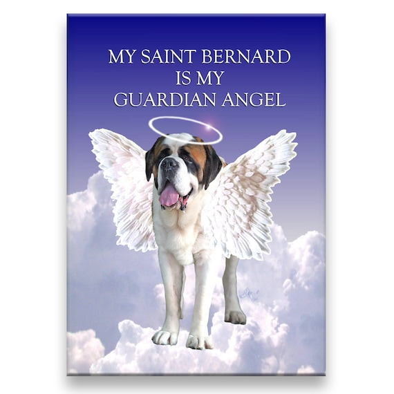 Saint Bernard Guardian Angel Fridge Magnet