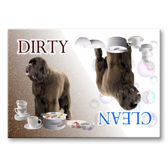 Newfoundland Clean Dirty Dishwasher Magnet No 1 Brown