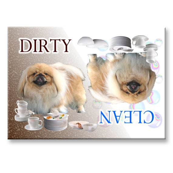 Pekingese Clean Dirty Dishwasher Magnet