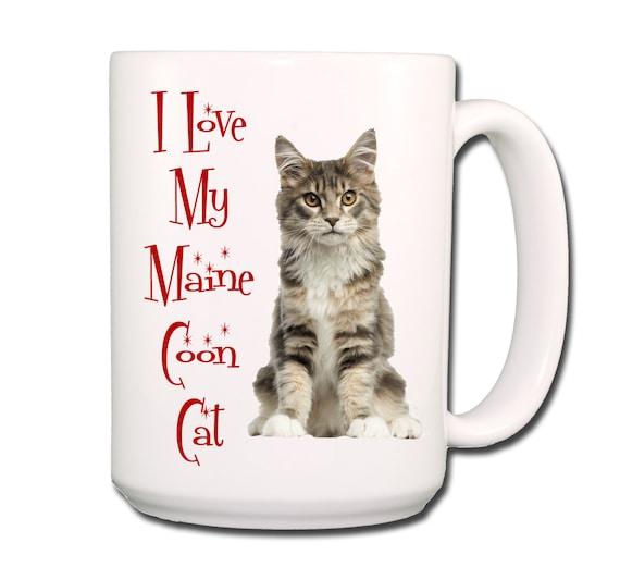Maine Coon Cat I Love My Cat Large 15 oz Coffee Mug No 4