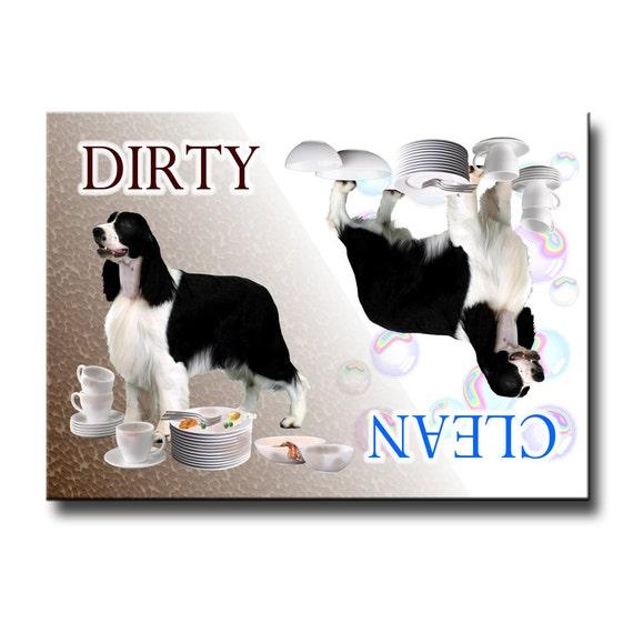 English Springer Spaniel Clean Dirty Dishwasher Magnet No 1