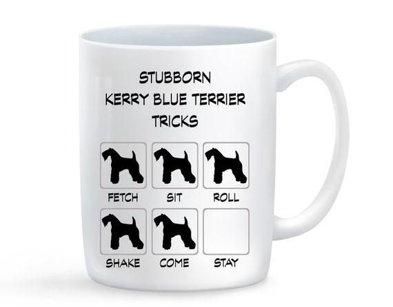 Kerry Blue Terrier Stubborn Tricks 15oz Extra Large Coffee Mug