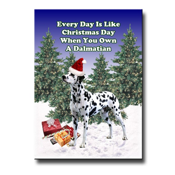 Dalmatian Christmas Holidays Fridge Magnet