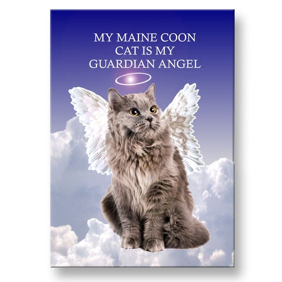 Maine Coon Cat Guardian Angel Fridge Magnet No 5