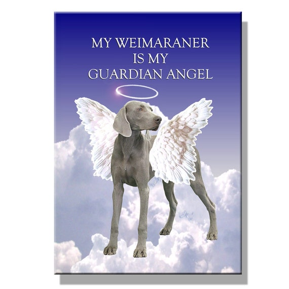 Weimaraner Guardian Angel Fridge Magnet