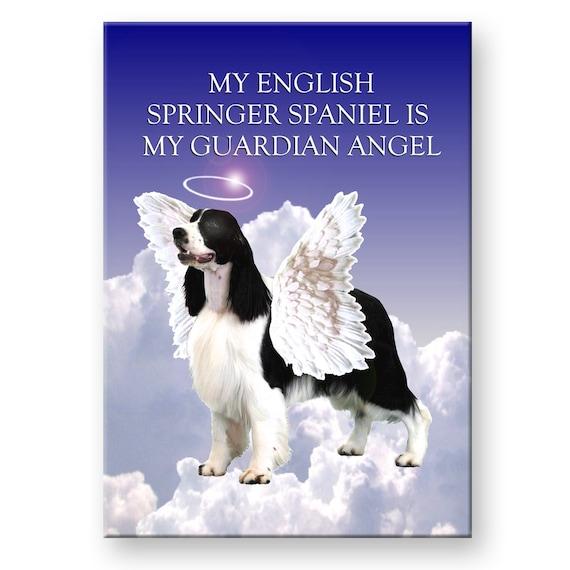 English Springer Spaniel Guardian Angel Fridge Magnet No 1