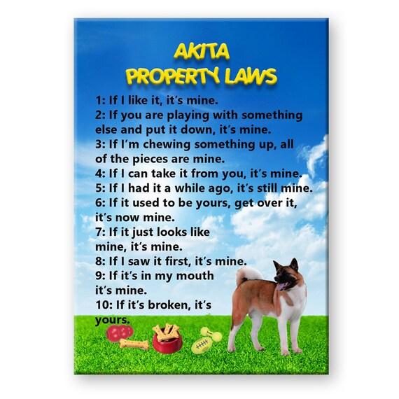 Akita Property Laws Fridge Magnet