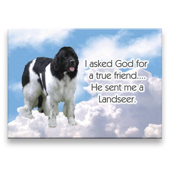 Landseer True Friend Fridge Magnet
