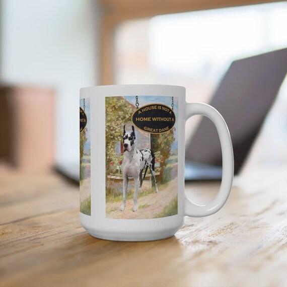 Great Dane a House is Not a Home Extra Large 15oz Coffee Mug Dog No 2