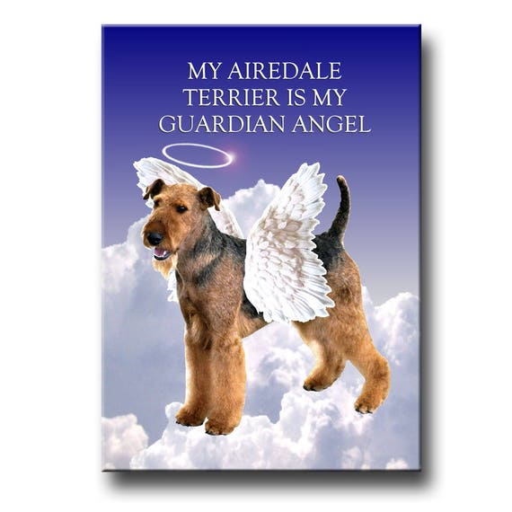 Airedale Terrier Guardian Angel Fridge Magnet
