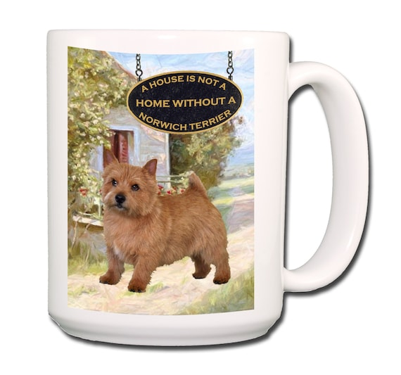 Norwich Terrier a House is Not a Home Extra Large 15 oz Coffee Mug