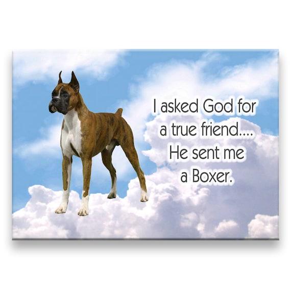 Boxer True Friend Fridge Magnet