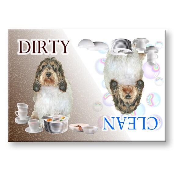 Petit Basset Griffon Vandeen Clean Dirty Dishwasher Magnet PBGV