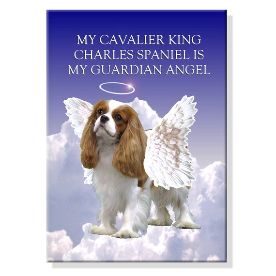 Cavalier King Charles Spaniel Guardian Angel Fridge Magnet No 2