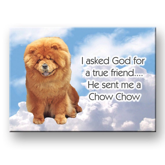 Chow Chow True Friend Fridge Magnet