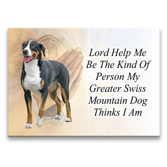 Greater Swiss Mountain Dog Lord Help Me Be Fridge Magnet