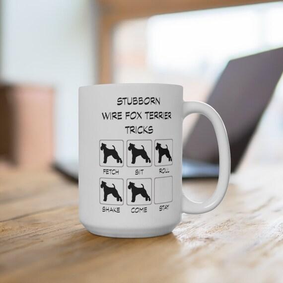 Wire Fox Terrier Stubborn Tricks Extra Large 15oz Mug