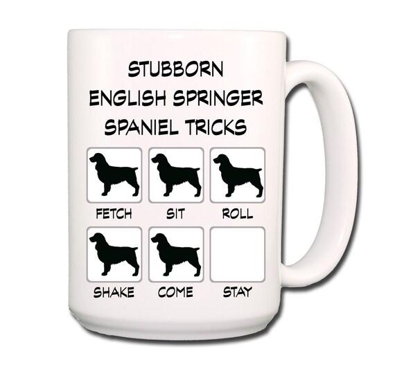 English Springer Spaniel Stubborn Tricks Large 15 oz Coffee Mug