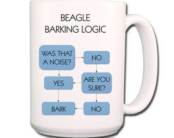 Beagle Barking Logic Extra Large 15 oz Coffee Mug