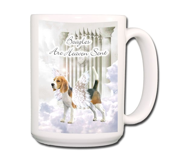 Beagle Heaven Sent Extra Large 15 oz Coffee Mug