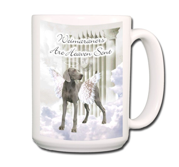 Weimaraner Heaven Sent Large 15 oz Coffee Mug